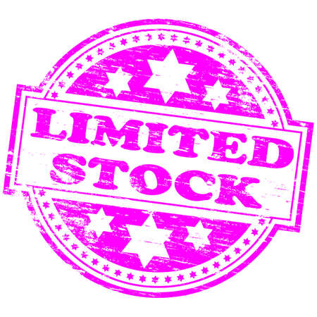 LIMITED STOCK Rubber Stamp Stock Vector - 8774804