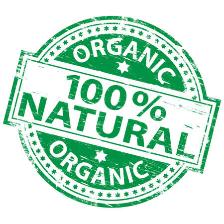 natural health: 100% NATURAL Rubber Stamp