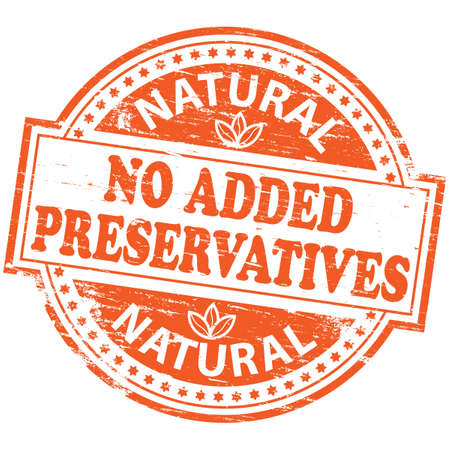 NO ADDED PRESERVATIVES Rubber Stamp Stock Vector - 8774806