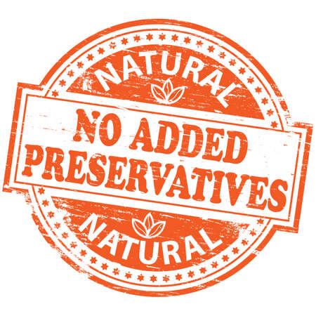 added: NO ADDED PRESERVATIVES Rubber Stamp