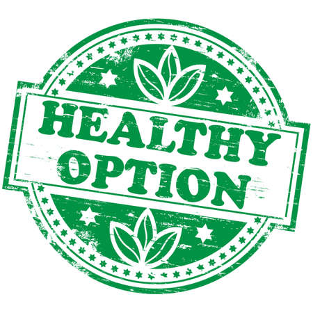 natural health: HEALTHY OPTION Rubber Stamp