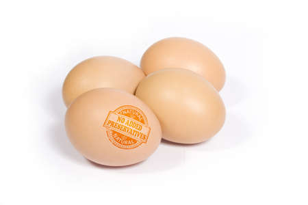 preservatives: Eggs with NO ADDED PRESERVATIVES stamp