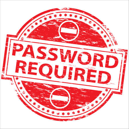 required: PASSWORD REQUIRED Stamp
