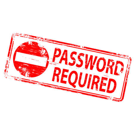 PASSWORD REQUIRED Stamp Vector