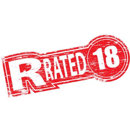 esplicito: Rated r timbro di gomma