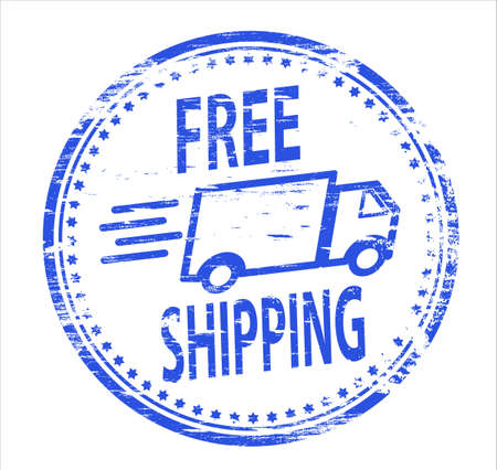 free icon: FREE SHIPPING Rubber Stamp