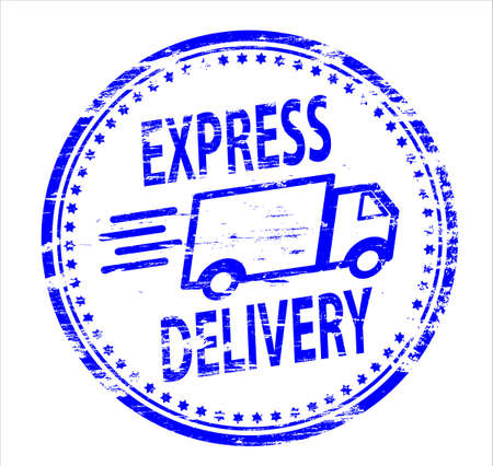 EXPRESS DELIVERY Rubber Stamp Stock Vector - 8985227