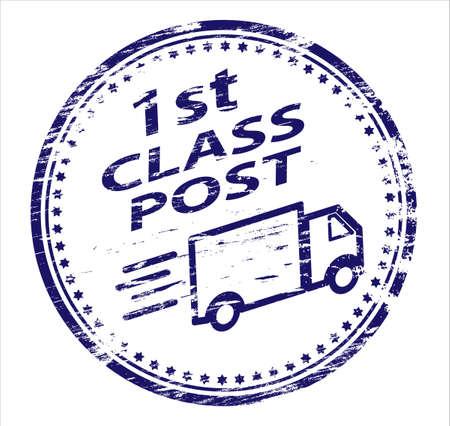 1. klasy POST stempel Ilustracje wektorowe