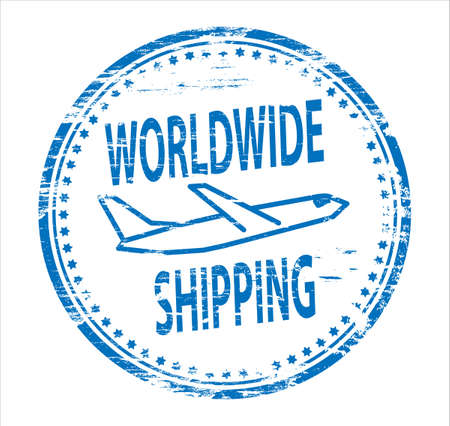 WORLDWIDE SHIPPING Rubber Stamp Stock Vector - 8985224
