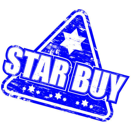 STAR BUY Rubber Stamp Stock Vector - 8985214