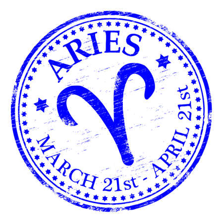 ARIES Zodiac Rubber Stamp Stock Vector - 8984747