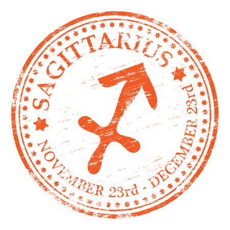abstract zodiac: SAGITTARIUS Zodiac Rubber Stamp