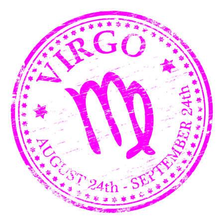 virgo: VIRGO Zodiac Rubber Stamp