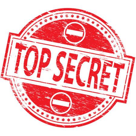 TOP SECRET Rubber Stamp 矢量图像