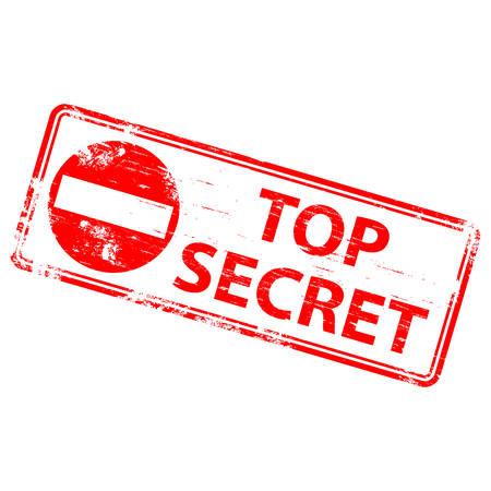 secretive: TOP SECRET Rubber Stamp Illustration