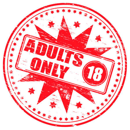 adult only: ADULTS ONLY Rubber Stamp