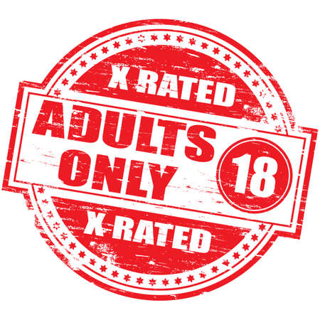 ADULTS ONLY Rubber Stamp