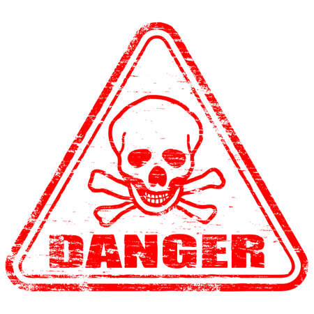 danger: DANGER Rubber Stamp Illustration