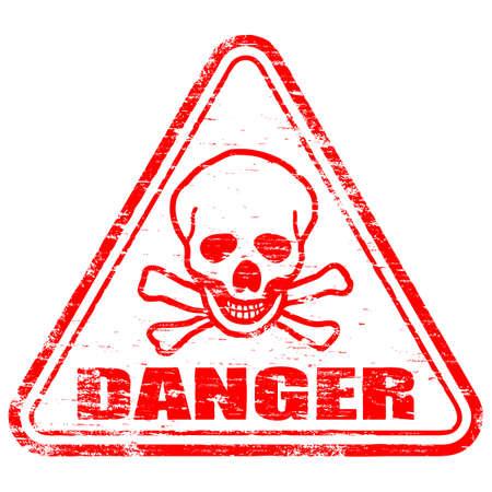 danger: Timbro di gomma di pericolo
