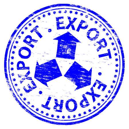 EXPORT Rubber Stamp Stock Vector - 8984749