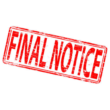 past: FINAL NOTICE Rubber Stamp