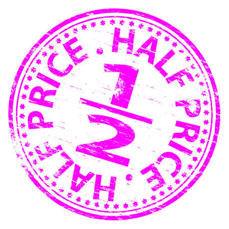 HALF PRICE Rubber Stamp Vector