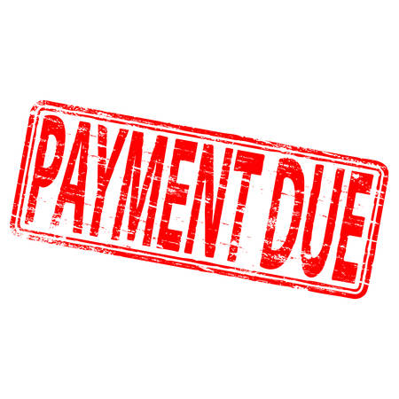 Verschuldigde betaling Rubber Stamp
