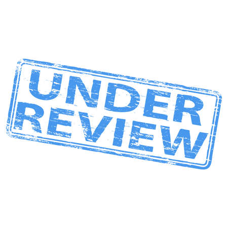 review icon: UNDER REVIEW Rubber Stamp