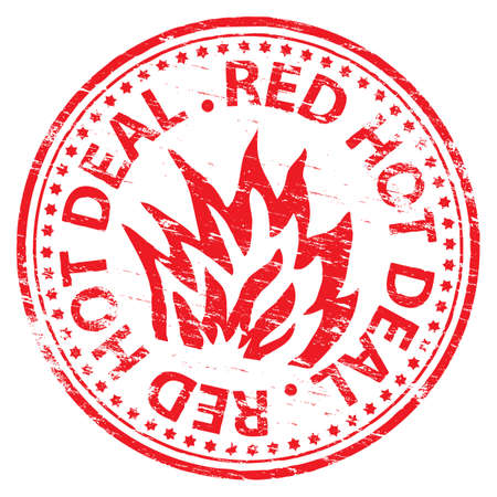 RED HOT DEAL Rubber Stamp Vector