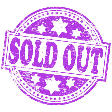 stock image: SOLD OUT Rubber Stamp Illustration