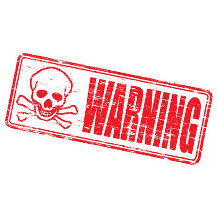 WARNING Rubber Stamp Stock Vector - 8977708