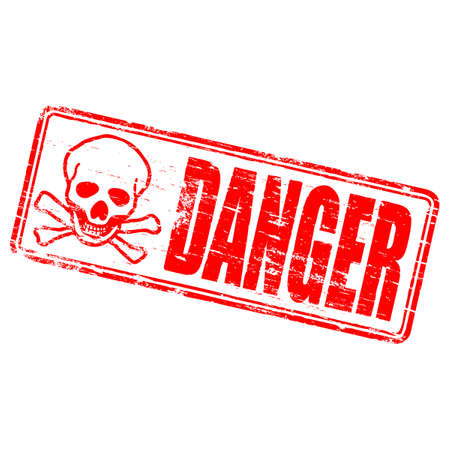 danger symbol: DANGER Rubber Stamp Illustration
