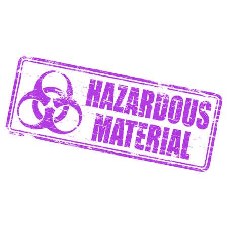 hazardous: Timbro di gomma materiali pericolosi