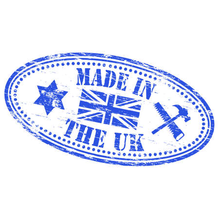 MADE IN THE UK Rubber Stamp Vector