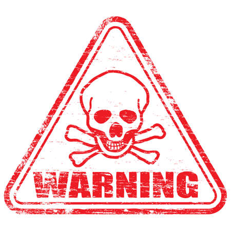 WARNING Rubber Stamp Stock Vector - 8986322