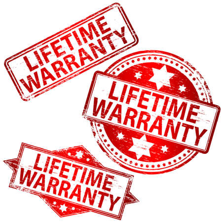 LIFETIME WARRANTY Rubber Stamps Stock Vector - 8986333