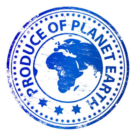 PRODUCE OF PLANET EARTH Rubber Stamp Stock Vector - 8986327