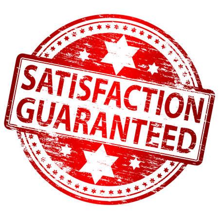 customer satisfaction: SATISFACTION GUARANTEED Rubber Stamp