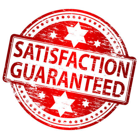 Zufriedenheit garantiert Stempel