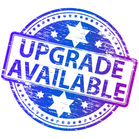 UPGRADE AVAILABLE Rubber Stamp Vector