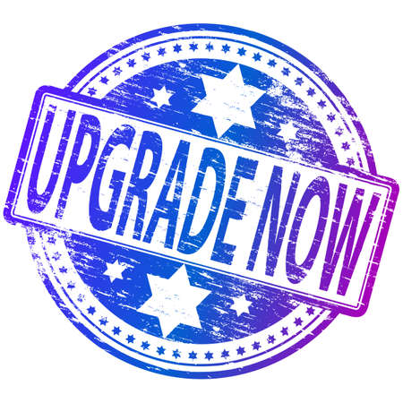 UPGRADE NOW Rubber Stamp