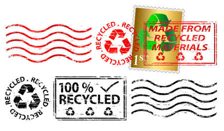 franked: Recycling letter franking mark and stamp