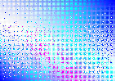 equaliser: Abstract pink and blue mosaic background Illustration