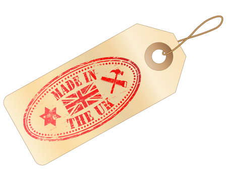 MADE IN THE UK Tag  Vector
