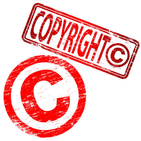 unlawful: Sellos de caucho de COPYRIGHT Grunge