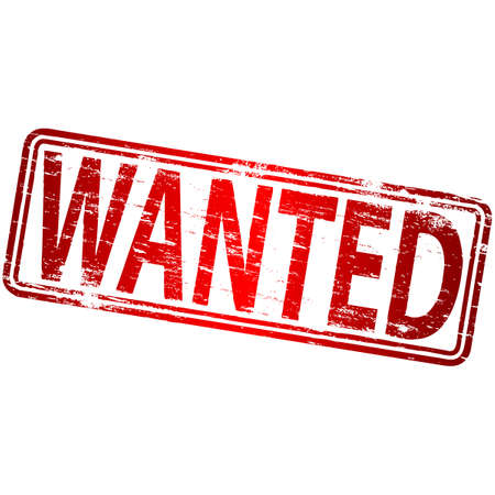 WANTED Grunge-Stempel