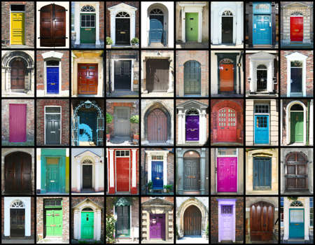 Collection of doors montage Stock Photo - 9068739