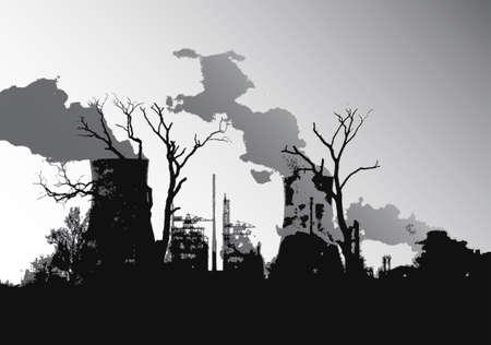 Power station silhouette illustration