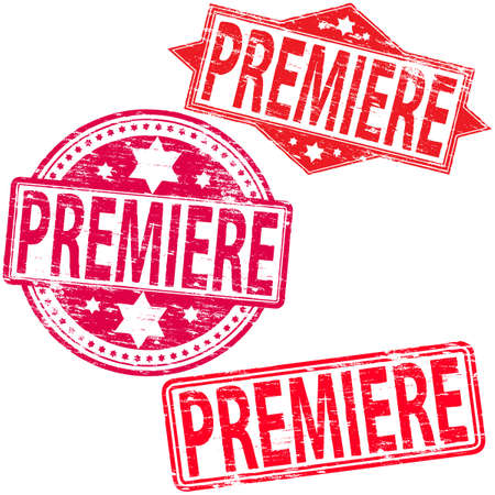PREMIERE Rubber Stamps Vector