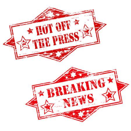office break: Reci�n publicada y de ruptura de sellos NOTICIAS Vectores
